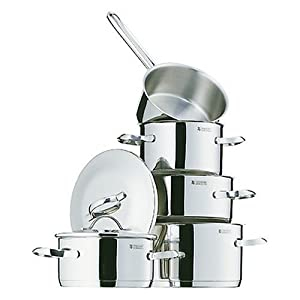 wmf provence 5 piece stainless steel cookware set kitchen home. Black Bedroom Furniture Sets. Home Design Ideas
