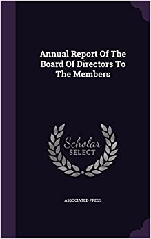 Book Annual Report Of The Board Of Directors To The Members