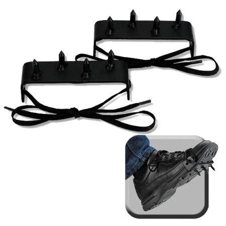 SuperKnife 2 pcs Ninja Gear Black Steel Foot Spikes Claw ()