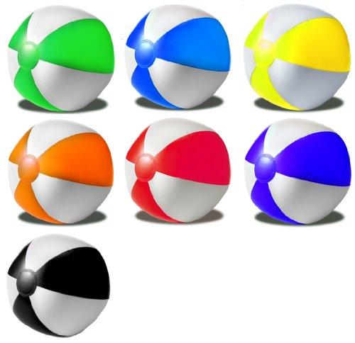 R5G1 Wasserball Strandball aufblasbar ca. 26cm Durchmesser Wasserspielzeug G1 (R535 Rot-Weiss)