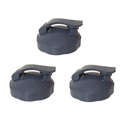 Blendin Replacement Parts, Fits Nutribullet 600W and 900W Blender Juicer (3 Flip Top To-Go Lids) by BLENDIN