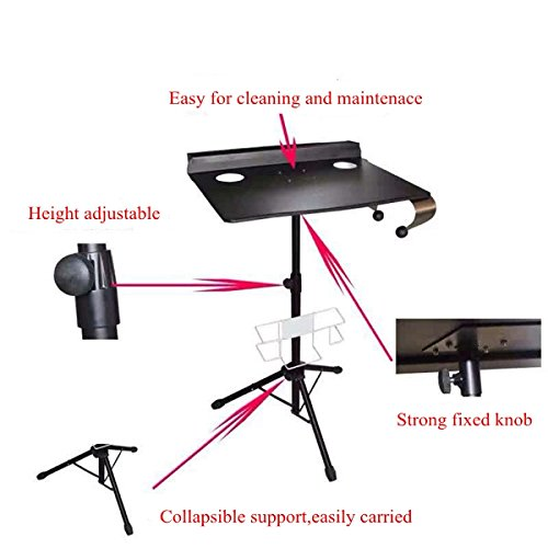 Tattoo Workstation Table -Yuelong Adjustable Tattoo Work Station Table Desk Steel Portable Collapsable,Tattoo Table Use for Tattoo ink,Tattoo Machines,Tattoo Supplies by Yuelong (Image #3)