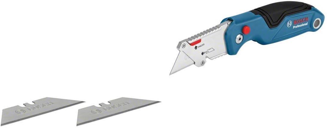 de aluminio fundido, en bl/íster 10 cuchillas de repuesto Bosch Professional 1600A016BL para navaja plegable, en bl/íster + C/úter plegable