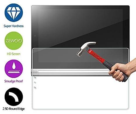 ZeWoo Protector de pantalla de vidrio templado para Lenovo Yoga Tablet 2-10(10.1 pulgadas) ultra duro 9H *2.5D con un espesor de 0,33 mm