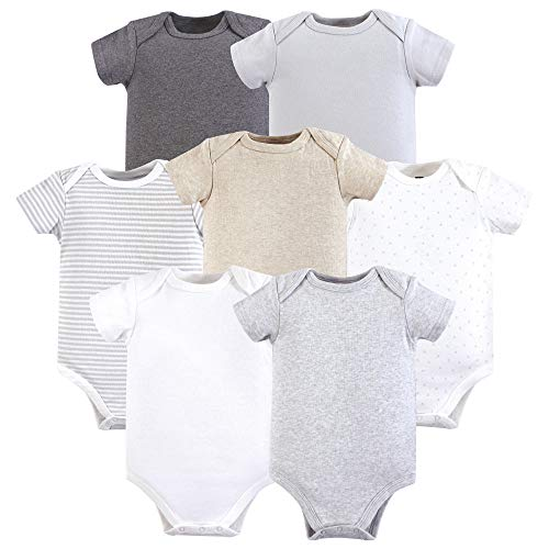 Hudson Baby Baby Cotton Bodysuits, Neutral 5-Pack 0-3 Months (3M) ()