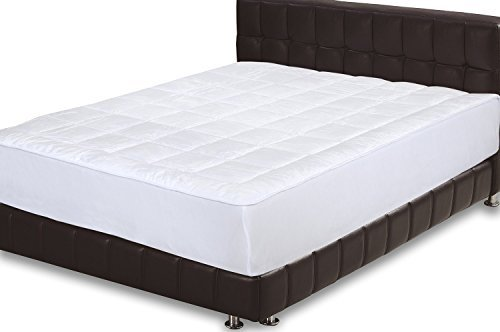 Best Deals! Quilted Fitted Mattress Pad (Queen) - Mattress Cover Stretches up to 15 Inches Deep - Mi...