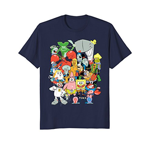 Spongebob Squarepants Cast Of Characters T-Shirt (Spongebob Women For Tshirt)