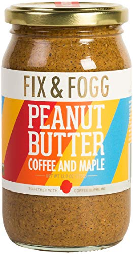 Gourmet Coffee & Maple Peanut Butter (13.2 oz) All Natural, Handmade by Fix and Fogg, Freshly Roasted Coffee & Canadian Maple Syrup with Golden Roasted Peanuts in Beautiful Gift Packaging
