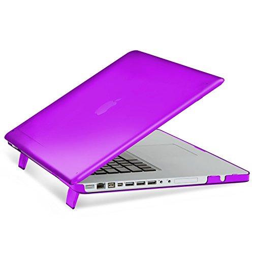 """Apple MacBook Pro 15"""" Case, Insten Snap-in Rubber Case compatible with Apple MacBook Pro 15"""", Purple"""