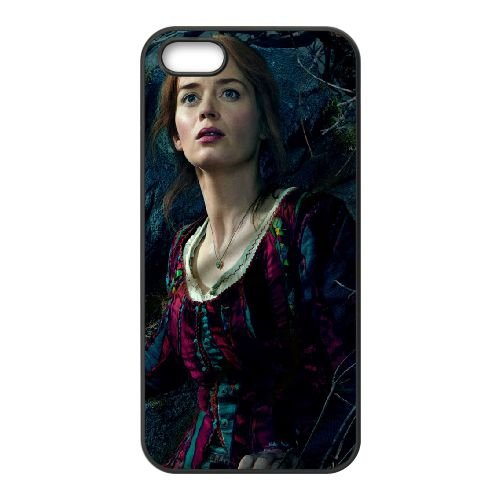Emily Blunt In Into The Woods 2014 coque iPhone 5 5S cellulaire cas coque de téléphone cas téléphone cellulaire noir couvercle EOKXLLNCD23503