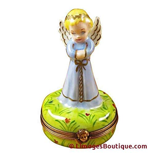 Blue Angel - French Limoges Boxes - Porcelain Figurines Collectible Gifts RR221