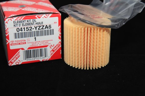 Toyota Genuine Parts 04152-YZZA6 Replaceable Oil Filter Element (QTY10) (Prius Toyota Oil Filter 2013)