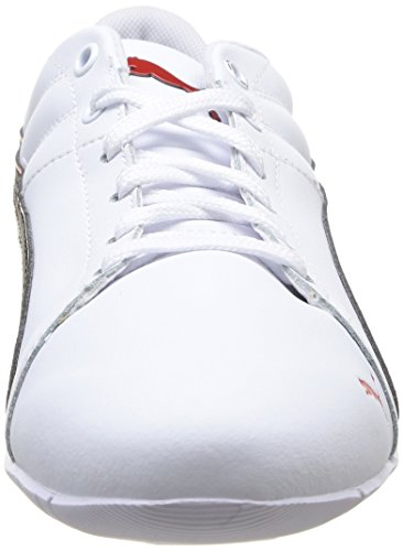 Puma Racing Cat 1.1 Venture - zapatilla deportiva de cuero hombre blanco - Weiß (white-black-high risk red 03)