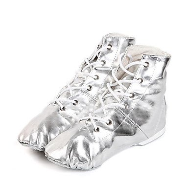 XIAMUO Nicht anpassbar - Die Frauen tanzen Schuhe Kunstleder Kunstleder Jazz/Tanz Stiefel/, Silber, US 9 / EU 40/UK7/CN41