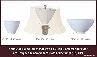 Royal Designs Rectangle Cut Corner Lamp Shade