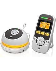 Motorola MBP169 - Draagbare babyfoon Audio met 1.5 Inch Display en Baby Care Timer - Wit