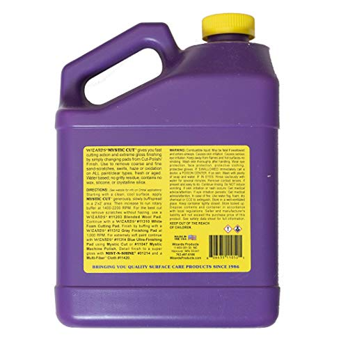 Wizards Mystic Cut_Non Abrasive Buffing Compound & Scratch Remover for Car Care 1 Gallon by Wizards Products (Image #1)