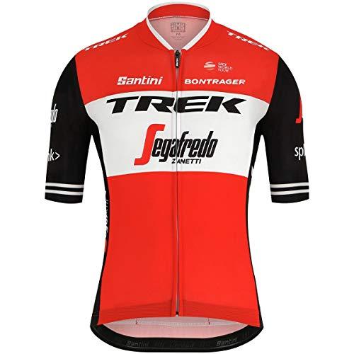 (Santini Trek Pro Team Sleek 99 Jersey - 2019 - Men's Red, XL)
