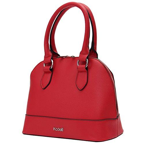 Kadell Mujer Top Mango Estilo Vintage Bolsa De Hombro Bolso Satchel Negro Rojo