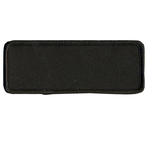 BLANK with BLACK TRIM, Saw-On Rayon PATCH - 4