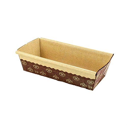 Rectangular Paper Loaf Pan Molds Small Size - 6''x2.5''x2'' - - Paper Loaf Mold