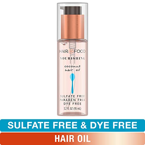 Hair Food Oil - Sulfate Free Hair Oil, Dye Free Smoothing and Nourishing Treatment, Coconut, Hair Food, 3.2 FL OZ