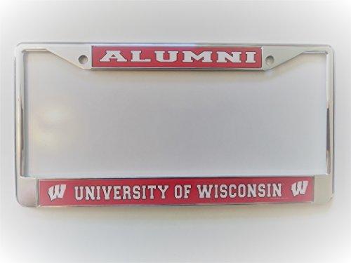 University of Wisconsin W Logo Alumni Chrome License Plate - Frame Wisconsin
