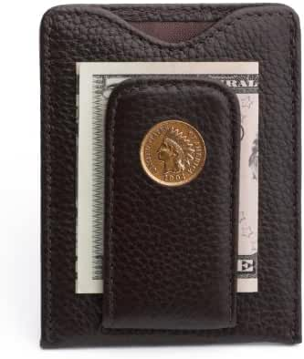 Tokens & Icons Indian Head Penny Money Clip Wallet - Brown (80IH-BRN)
