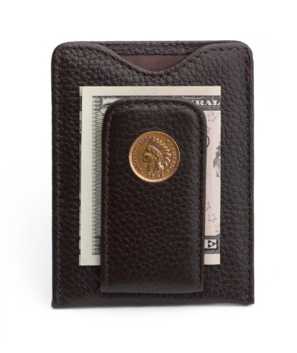 Mens Icon Wallet (Tokens & Icons Indian Head Penny Money Clip Wallet - Brown (80IH-BRN))