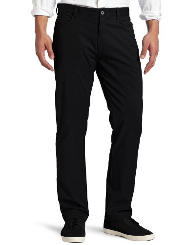 Calvin Klein Men's Slim Fit 4-Pocket Stretch Sateen Pant,Black,34Wx32L