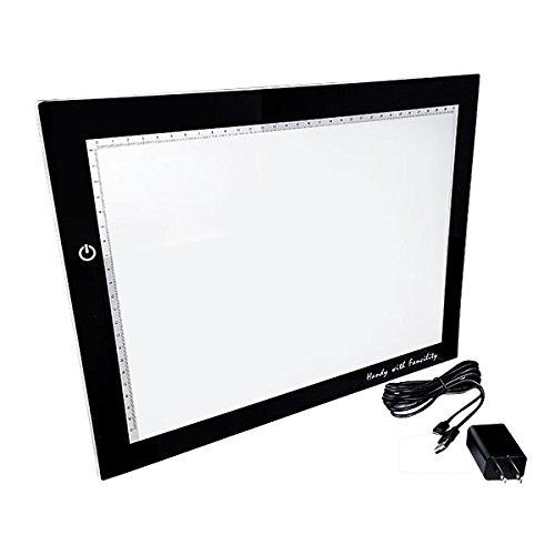 Master- Caja de luz ultra delgada para calcar dibujos, produce luz blanca, ideal para manualidades, diseño, estarcido,...