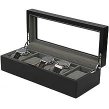 Tech Swiss 5 Watch Box Black Finish