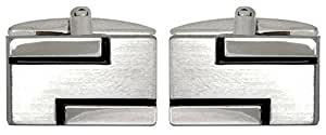 Silver Lined Cufflinks by David Van Hagen