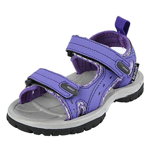 - Northside Girls' Riverside II-K Sandal, Violet, 7 M US Toddler