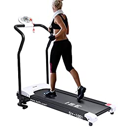 ISE Folding Treadmill Motorized 750W 10 KM/H with LCD Screen...