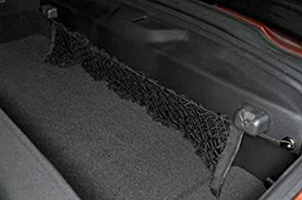for CHEVROLET CHEVY CORVETTE 2014-2020 BRAND NEW Rear Trunk Space Area Black Vertical Envelope Style Storage Organizer Web Mesh Luggage Bungee Compartment Cargo Net Red De Carga Del Maletero Trasero