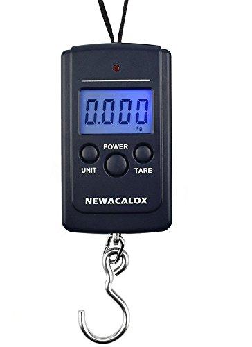 Bascula peso digital lcd hasta 40kg para ir de pesca, caza, maletas equipaje