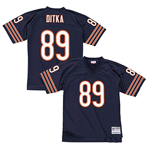 Mike Ditka Chicago Bears Dark Navy Throwback Jersey Medium