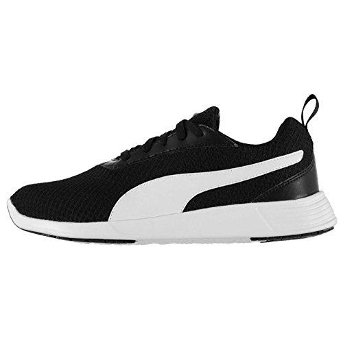 Puma Herren ST Evo Sportschuhe Turnschuhe Training Sneaker Sport Schnuerschuhe Black/White 9 (43)