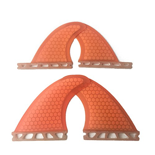 UPSURF Future Surfboard Fin Fiberglass+Honeycomb Quad, used for sale  Delivered anywhere in USA