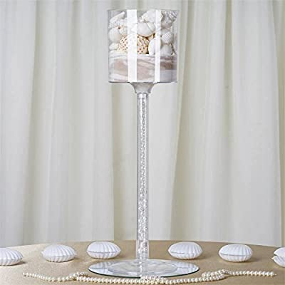 Efavormart Wholesale Plastic Sturdy Centerpiece Cylinder Cup Stand Wedding Party Event Decoration - SET OF 4