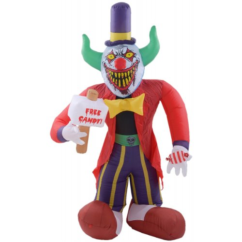 8 Ft Free Candy Killer Clown Halloween Airblown Inflatable (Halloween Inflatables)