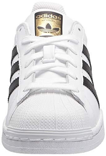 adidas Originals Kids' Superstar Foundation EL C Sneaker, White/Black/White, 12.5 M US Little Kid