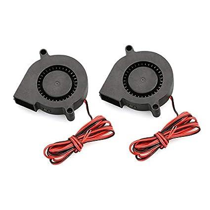 Newgrees 2 PCS mini ventilador de refrigeración 5015 DC 12V Turbo ...