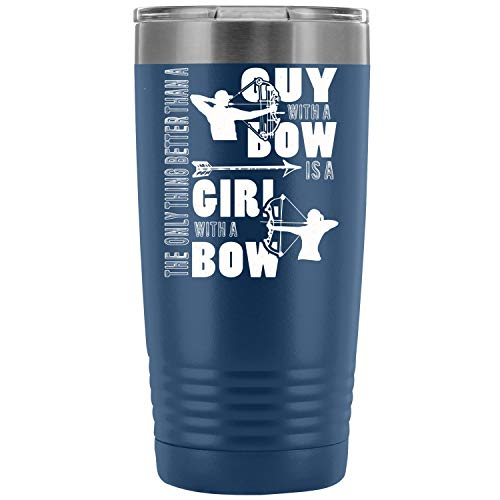 - Archer 20 oz Tumbler For Home,Office,School - Works Great for Ice Drink, Hot Beverage, Guy With A Bow Vacuum Insulated Water Coffee Cup Double Wall (20oz - Blue)