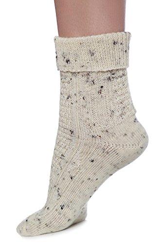 warme Damen Schafwollsocken im Lodenlook xxx 1 Paar xxx in den Größen 35 bis 43 xxx Qualitätsware aus dem Erzgebirge - Deutschland