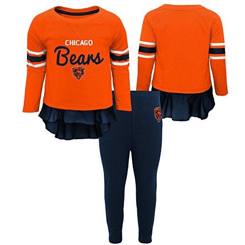 Outerstuff NFL Chicago Bears Infant Mini Formation Long Sleeve Top & Legging Set Orange, 24 Months ()