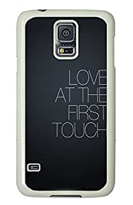 Samsung Galaxy S5 Love at first touch PC Custom Samsung Galaxy S5 Case Cover White