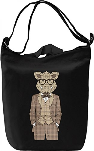 Fancy boar Borsa Giornaliera Canvas Canvas Day Bag| 100% Premium Cotton Canvas| DTG Printing|