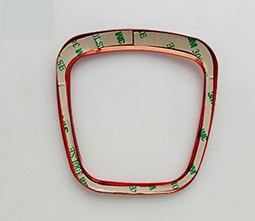 Emblem Trading Emblem Lenkrad Abdeckung Blende Rahmen Alu Chrom Rot Passend F/ür A1 A3 A4 A5 A6 A7 A8 Q2 Q3 Q5 Q7